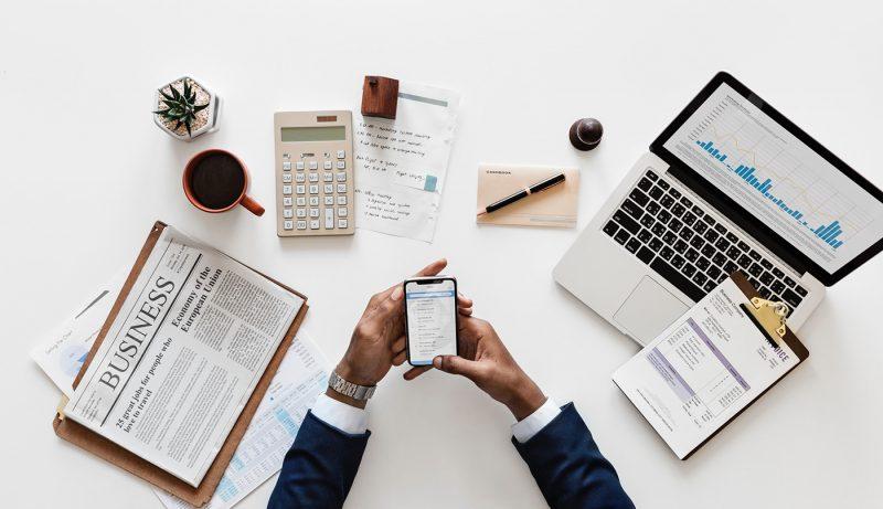 Man Doing Accounting