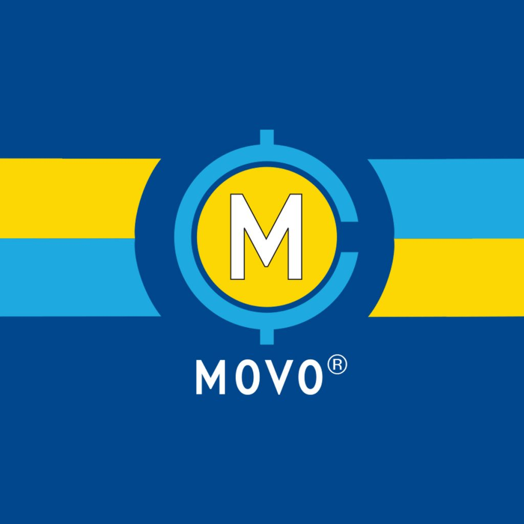 MOVO Striped Logo